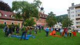 public Tangram game in City park